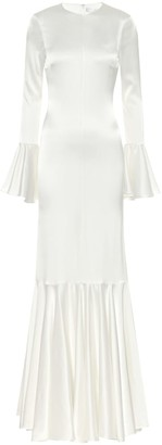 Caroline Constas Exclusive to Mytheresa Allonia stretch-silk satin gown