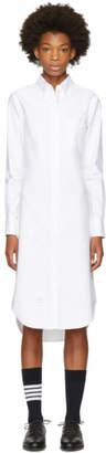 Thom Browne White Classic Shirt Dress