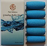 5 Pack Extra Coarse Pedicure Rollers Amope Wet Dry Compatible Amope Refill Compatible with Amope Pedi Perfect Wet Dry Foot File