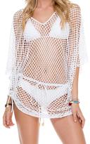 Luli Fama Cabana V Neck Dress In White (L506976)