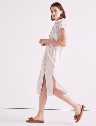 Lucky Brand Stripe Shirt Dress