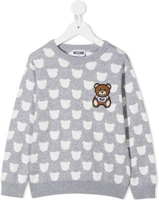 MOSCHINO BAMBINO Teddy Bear-Print Sweatshirt