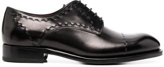 Brioni Tonal Stitching Lace-Up Shoes