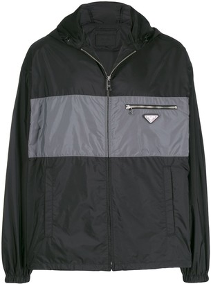 Prada Hooded Lightweight Jacket