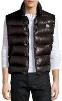 Moncler Tib Shiny Puffer Vest, Black