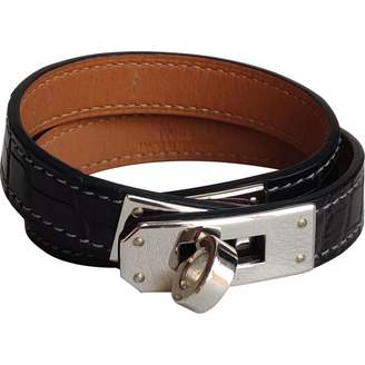 Hermes Kelly Double Tour Grey Alligator Bracelets