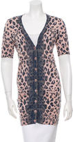 Rebecca Taylor Cheetah Print Button-Up Top