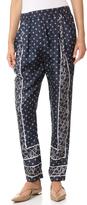 3.1 Phillip Lim Scarf Print Draped Trousers