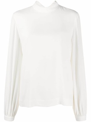 Paul Smith Cowl Neck Relaxed Fit Blouse