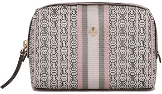 Tory Burch Gemini Canvas Small Cosmetic Case