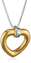 Hot Diamonds Just Add Love Yellow Gold Plated Accents Bonded Heart Pendant