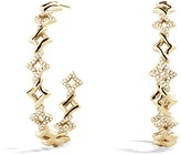David Yurman Venetian Quatrefoil Hoop Earrings with Diamonds in Gold