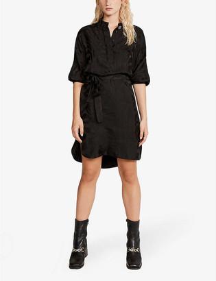 Claudie Pierlot Rikita silk-blend mini dress
