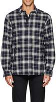 Barneys New York MEN'S PLAID COTTON SHIRT JACKET