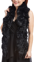Cejon Black Faux Fur Scarf