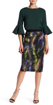 Gracia Soft Pattern Pencil Skirt
