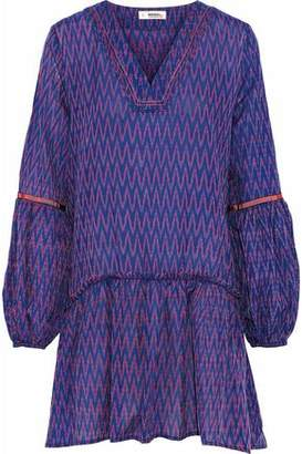 Lemlem Zigy Printed Cotton-gauze Mini Dress