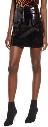 Blank NYC BLANKNYC Shiny Faux Leather Miniskirt