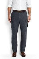 Lands' End Men's Utility Fit Wool Cargo Pants-Fatigue Khaki