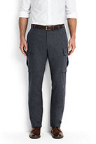 Lands' End Men's Utility Fit Wool Cargo Pants-Norway Spruce