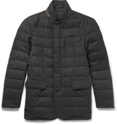 Hackett - Quilted Wool-blend Down Jacket
