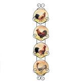 Zingz & Thingz Country Charm 5 Piece Hanging Plates Set