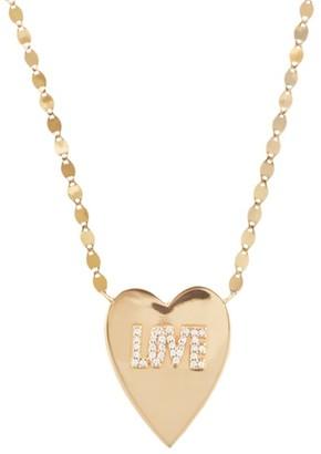 Lana 14K Gold & Diamond Love Heart Pendant Necklace