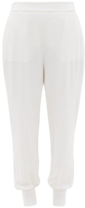 Stella McCartney Julia Crepe Track Pants - Womens - Ivory