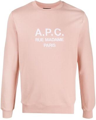 A.P.C. Crew Neck Logo Sweatshirt