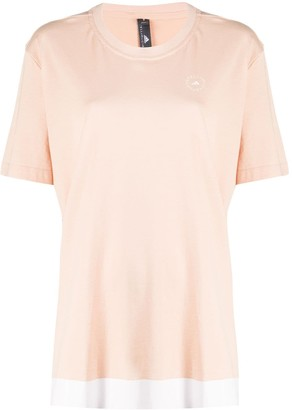 adidas by Stella McCartney contrast-hem organic-cotton T-shirt