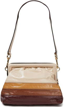 Marc Jacobs Singer Color-block Textured-leather Shoulder Bag