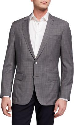HUGO BOSS Men's Glen Plaid Slim-Fit Two-Button Jacket