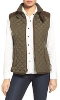 Gallery Women's Quilted Vest With Faux Suede Trim