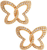 Chopard 18k Rose Gold Pave Diamond Butterfly Earrings