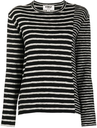 YMC Striped Panelled Top