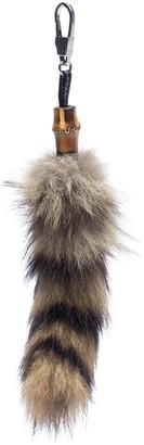 Gucci Bamboo Brown Fur Bag charms