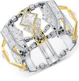 Swarovski Two-Tone Geometric Crystal Cuff Bracelet