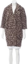 Thakoon Wool-Blend Animal Print Coat