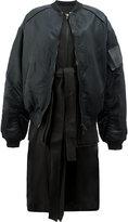 Juun.J long layered bomber jacket