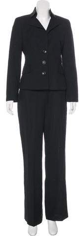Akris High-Rise Wool Pantsuit