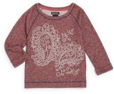 Lucky Brand Girl's Paisley Graphic Sweatshirt