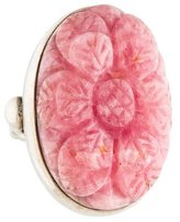 Stephen Dweck Sterling Rhodochrosite Cocktail Ring