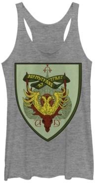 Fifth Sun Harry Potter Durmstrang Crest Tri-Blend Women's Racerback Tank