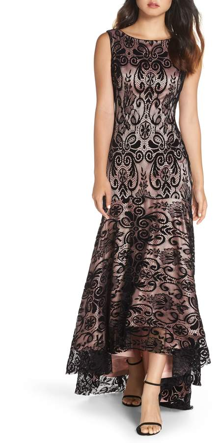 Eliza J High/Low Lace Gown