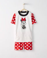 Hanna Andersson Disney Minnie Mouse Short John Pajamas In Organic Cotton