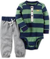 Carter's 2-Pc. Cotton Striped Bodysuit & Jogger Pants Set, Baby Boys (0-24 months)