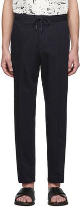 Ermenegildo Zegna Navy Linen Straight Trousers