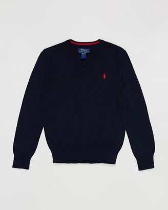 Polo Ralph Lauren Pima V-Neck Long Sleeve Sweater - Teens