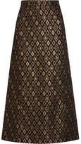 Vanessa Seward Escale Jacquard Midi Skirt - Black