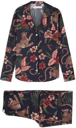 Desmond & Dempsey Soleia printed cotton pyjama set